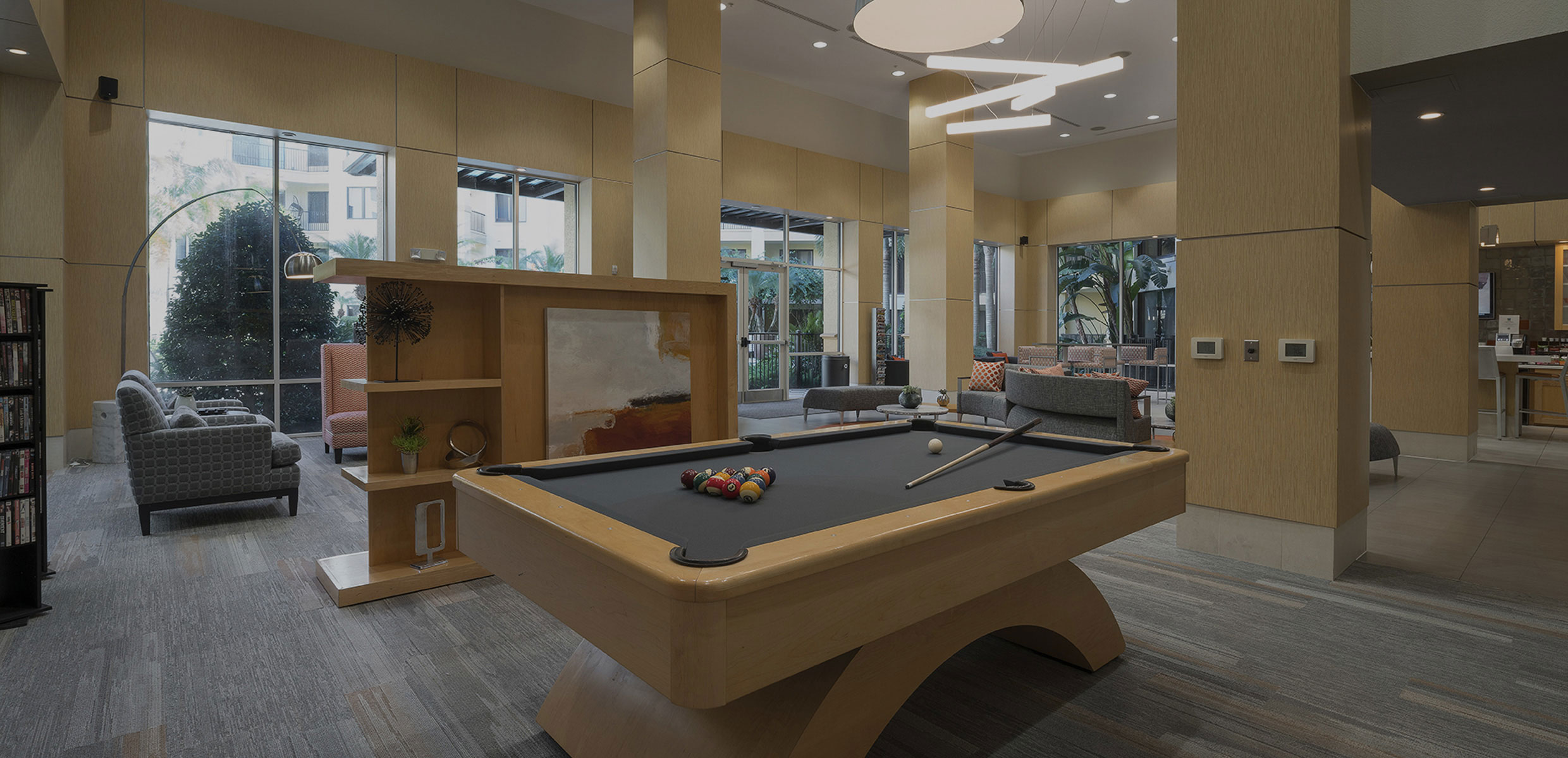 Dwell Maitland Pool Table in Clubhouse