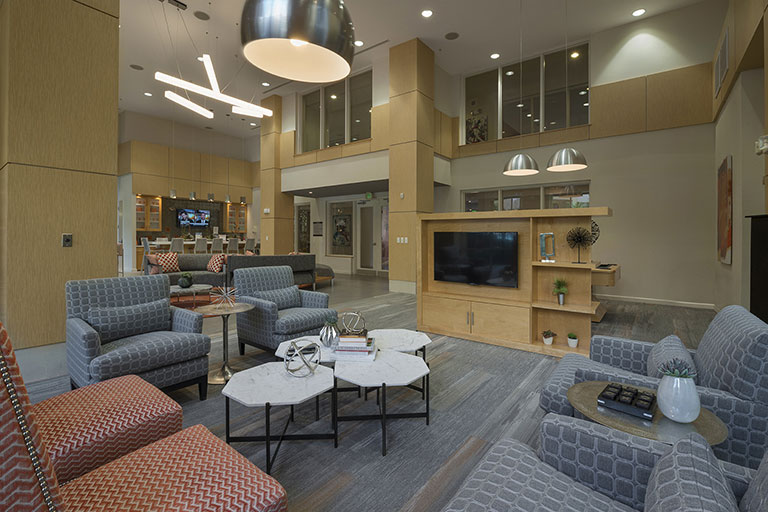 Interior of Dwell Maitland upgraded clubhouse